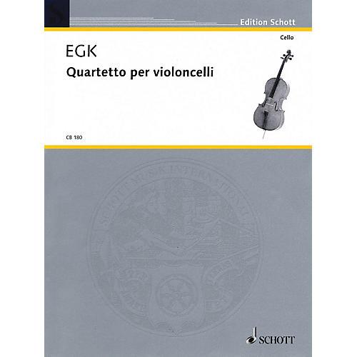 Schott Quartet for Violoncellos Schott Series Composed by Werner Egk