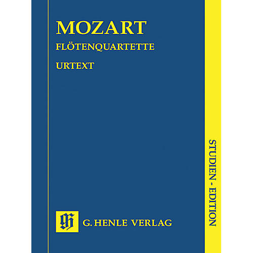 G. Henle Verlag Quartets for Flute, Violin, Viola, and Violoncello Henle Study Scores by Wolfgang Amadeus Mozart