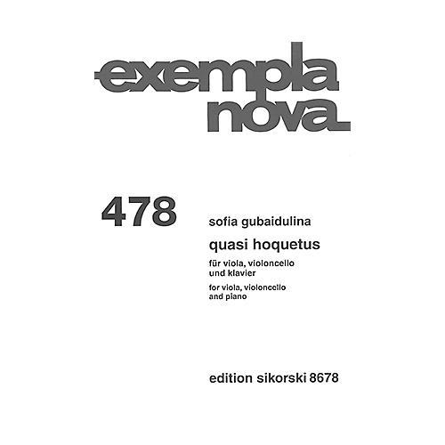 Sikorski Quasi Hoquetus (for Viola, Cello and Piano) String Ensemble Series Composed by Sofia Gubaidulina