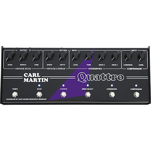 Carl Martin Quattro Analog Multi Effect Pedal on regulated power supply