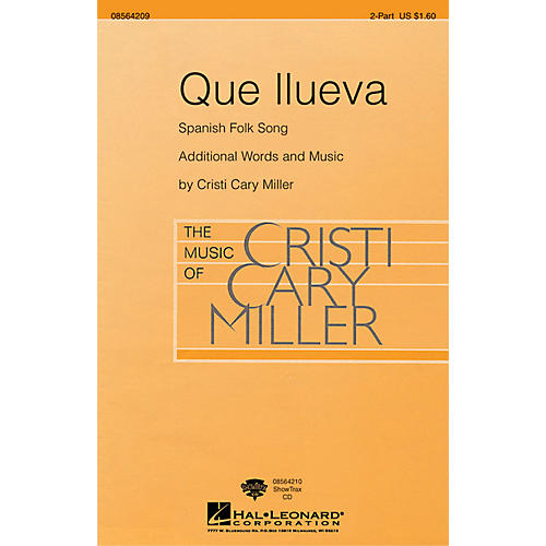 Hal Leonard Que Llueva ShowTrax CD Arranged by Cristi Cary Miller