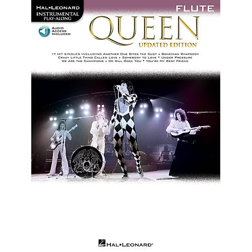Hal Leonard Queen - Updated Edition Flute Instrumental Play-Along Songbook Book/Audio Online
