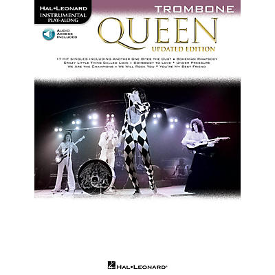Hal Leonard Queen - Updated Edition Trombone Instrumental Play-Along Songbook Book/Audio Online