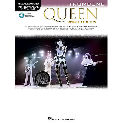 Hal Leonard Queen - Updated Edition Trombone Instrumental Play-Along Songbook Book/Audio Online