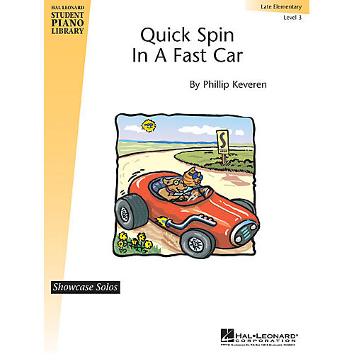 Hal Leonard Quick Spin in a Fast Car Piano Library Series by Phillip Keveren (Level Late Elem)