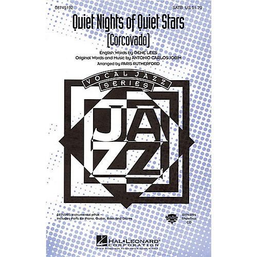 Hal Leonard Quiet Nights of Quiet Stars (Corcovado) SATB arranged by Paris Rutherford