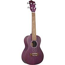 Quilted Ash Concert Ukulele Purple