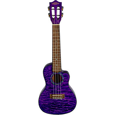 Lanikai Quilted Maple Acoustic-Electric Concert Ukulele With Cutaway