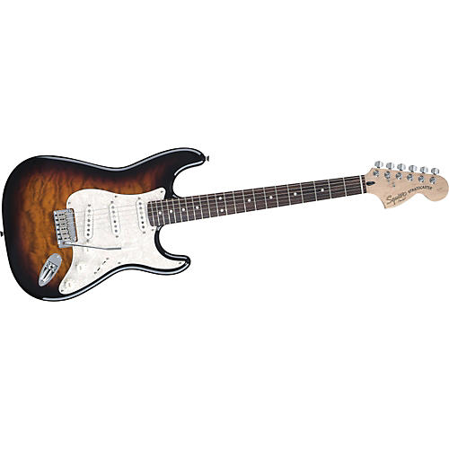 Quilted Top Deluxe Strat Electric Guitar