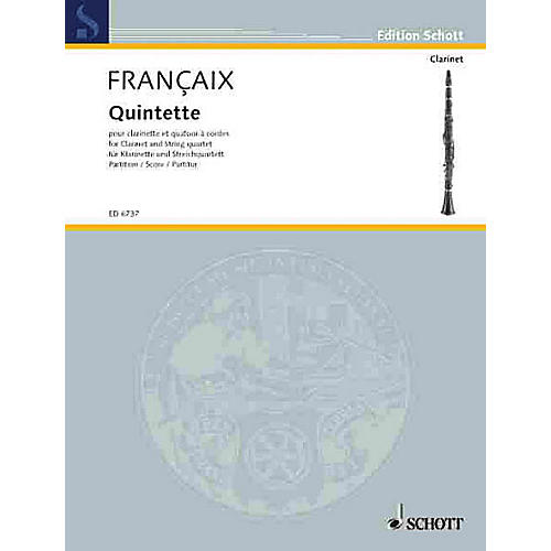 Schott Music Quintet (Score) Schott Series Composed by Jean Françaix