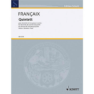Schott Music Quintet (Set of Parts) Schott Series Composed by Jean Françaix