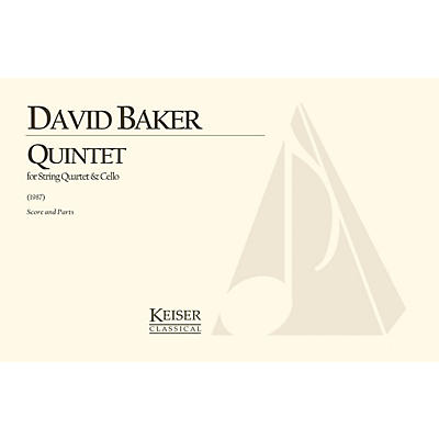 Lauren Keiser Music Publishing Quintet for String Quartet and Cello (Score and Parts) LKM Music Series Composed by David Baker