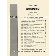 Associated Quodlibet Unac (Double Cannon)  SATB A Cappella SATB composed by E Katz