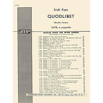 Associated Quodlibet Unac (Double Cannon)  SATB A Cappella SATB composed by E Katz