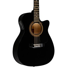 RA-090 Concert Cutaway Acoustic-Electric Guitar Black