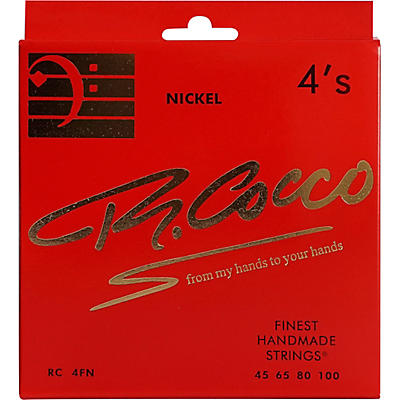 Richard Cocco RC4FN 4-String Nickel Electric Bass Guitar Strings