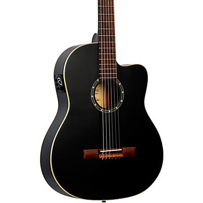 Ortega RCE125SN Family Series Thinline Acoustic-Electric Classical Guitar
