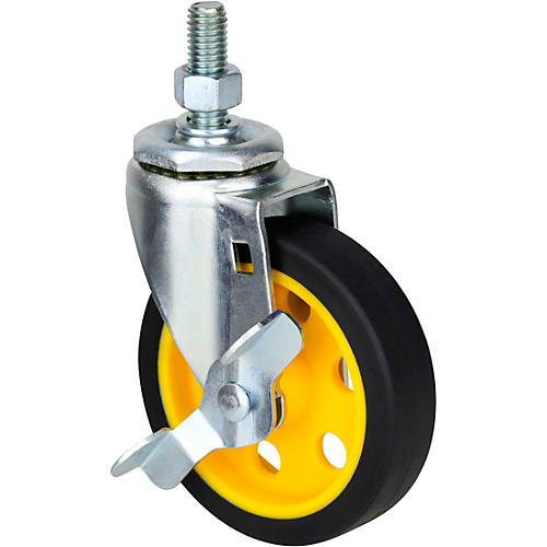 Rock N Roller RCSTR4X1 4-in. G-Force Caster With Brake for R2, R6 Carts - 2-Pack