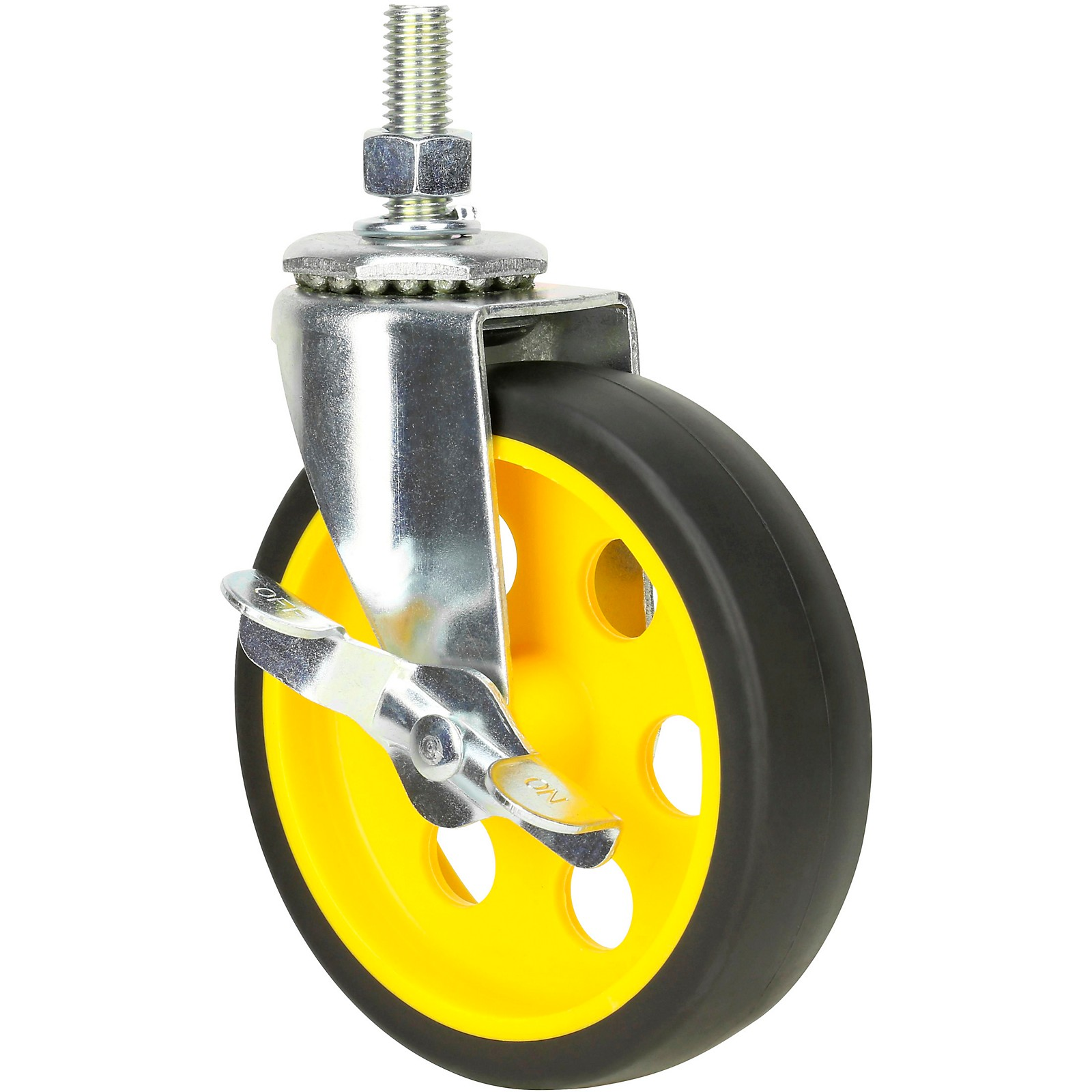 Rock N Roller RCSTR5X125 5in. G-Force Caster with Brake For R8, R10 Carts - 2-Pack
