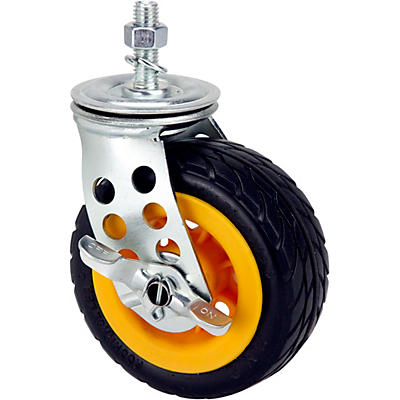 Rock N Roller RCSTR5X2 5x2in. Ground Glider Wide Caster With Brake (Upgrade For R8, R10 Carts) 2-Pack