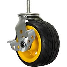 "Rock N Roller RCSTR6X3 6"" x 3"" Ground Glider Wide Caster with Brake (Upgrade For R14 Carts) - 2-Pack"