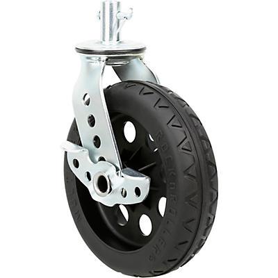 "Rock N Roller RCSTR8X2BK 8"" x 2"" R-Trac Caster with Brake For R12 Carts - Black Hub 2-Pack"