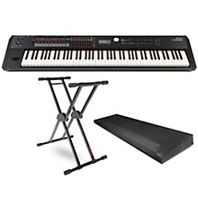 Roland RD-2000 Digital Stage Piano, KS-20X Stand, and Dust Cover