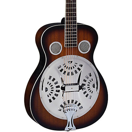Regal RD-30T Studio Series Roundneck Resophonic Guitar Vintage Sunburst
