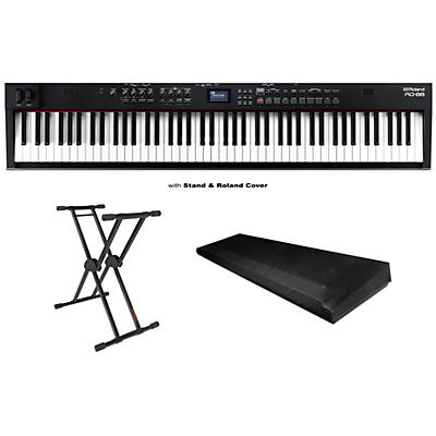 Roland RD-88 88-Key Stage Piano, KS-20X Stand and Dust Cover