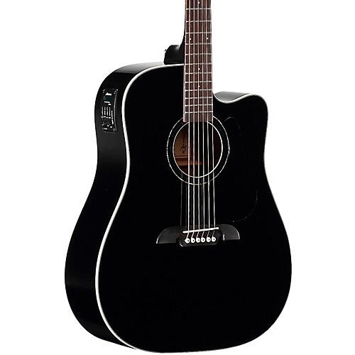 alvarez rd260cebk dreadnought acoustic electric guitar musician s rh musiciansfriend com
