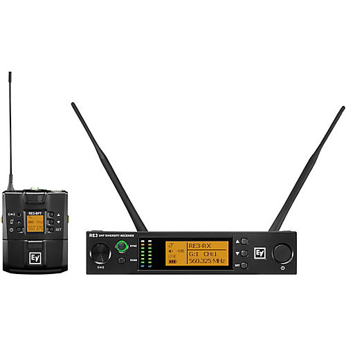 Electro-Voice RE3 Wireless Bodypack Set, No Input Device 488-524 MHz