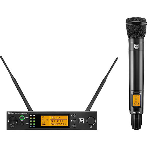 Electro-Voice RE3 Wireless Handheld Set with ND96 Dynamic Supercardioid Vocal Microphone Head 560-596MHz