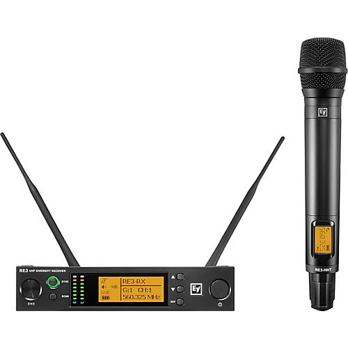 Electro-Voice RE3 Wireless Handheld Set with RE420 Dynamic Supercardioid Vocal Microphone Head 653-663MHz 488-524 MHz