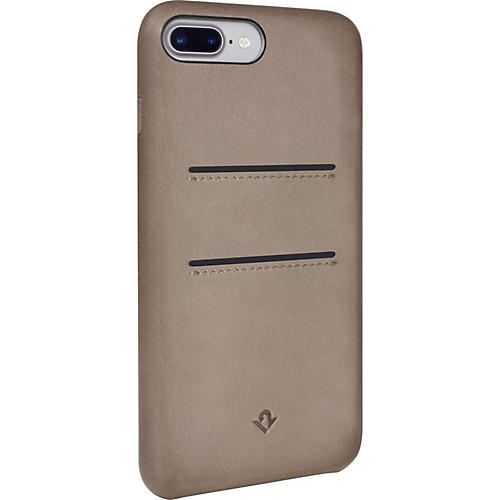 Twelve South RELAXED LEATHER POCKETS TAUPE BURNISHED CASE IP7+ W/POCKETS