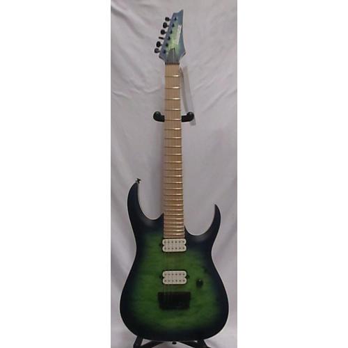Ibanez RGAIX6MQM Iron Label Solid Body Electric Guitar Surreal Blue Burst