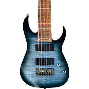 ibanez rgir9fme iron label 9 string electric guitar faded denim flat musician 39 s friend. Black Bedroom Furniture Sets. Home Design Ideas