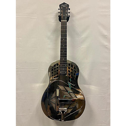 Recording King RM-991 Resonator Guitar Silver