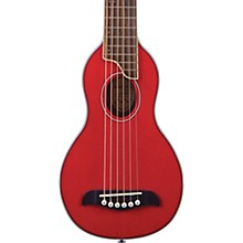 RO10 Rover Travel Acoustic Guitar Transparent Red