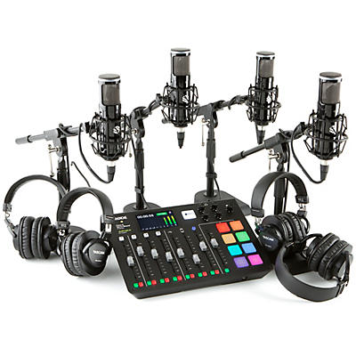 Rode RODECaster Pro 4-Person Podcasting Bundle With SP150 &TH300X