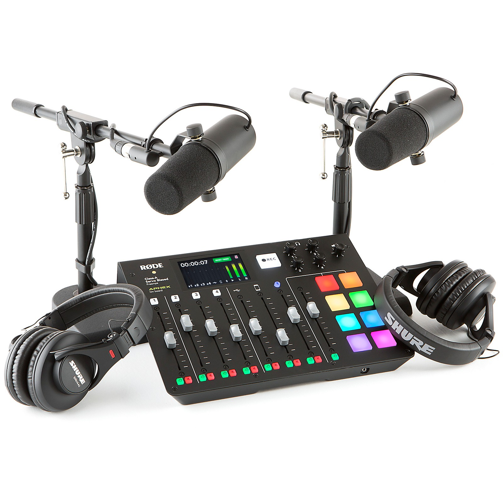 Rode RODEcaster Pro 2-Person Podcasting Bundle With SM7B & SRH840