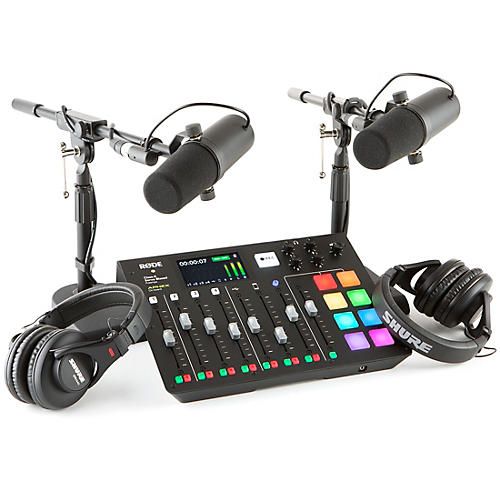 RODEcaster Pro 2-Person Podcasting Bundle With SM7B & SRH840