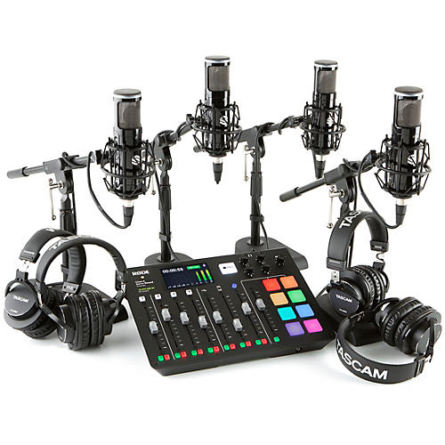 Rode RODEcaster Pro 4-Person Podcasting Bundle with SP150 &TH200X