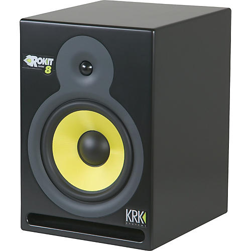 krk rp 8 rokit powered 8 reference studio monitor musician 39 s friend. Black Bedroom Furniture Sets. Home Design Ideas