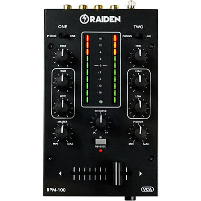 Raiden RPM-100 Portable 2-Channel DJ Mixer