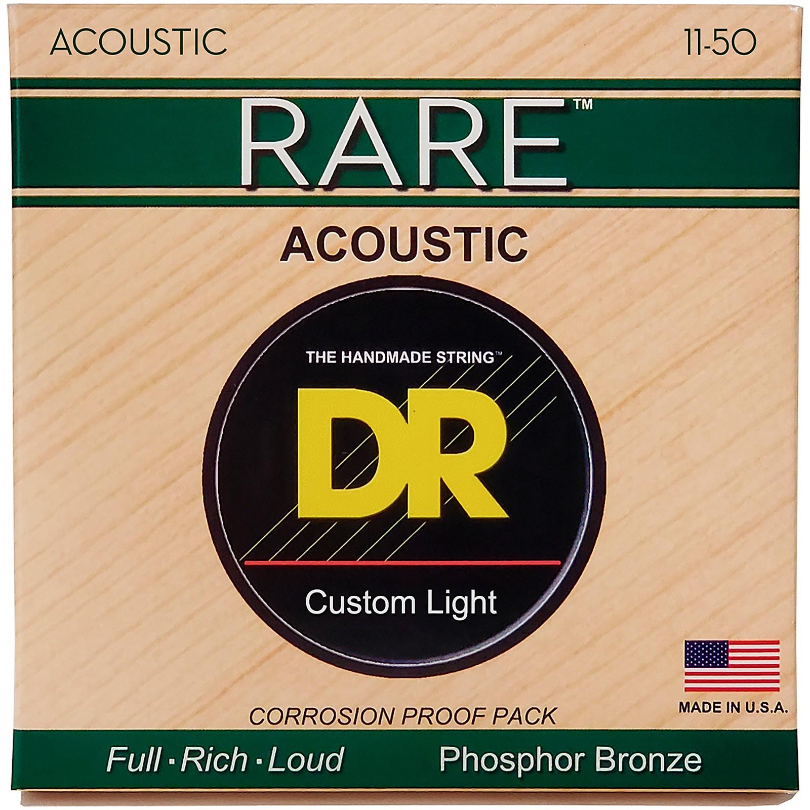 DR Strings RPML-11 Custom Light RARE Phosphor Bronze Acoustic Strings