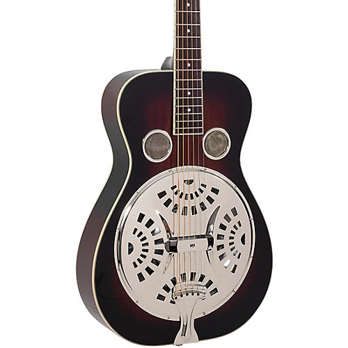 Recording King RR-36-VS Maxwell Series Round Neck Resonator Guitar Vintage Sunburst