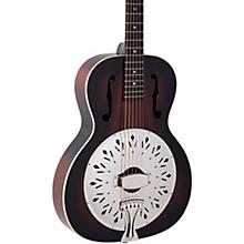 Open BoxRecording King RR-41-VS Rattlesnake Wood Body Resonator Guitar
