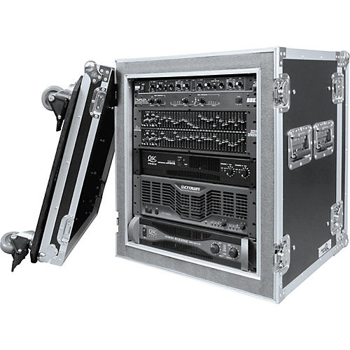 Road Ready RR12UADSW 12U Deluxe Shock Mount Amplifier Rack Case