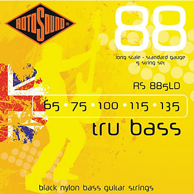 Rotosound RS885LD Trubass Black Nylon Flatwound Strings