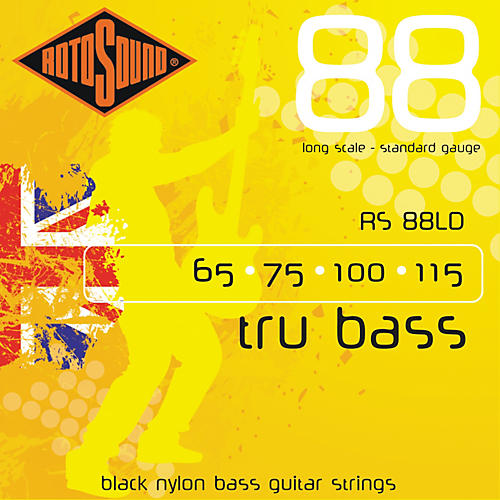Rotosound RS88LD Trubass Black Nylon Flatwound Bass Strings